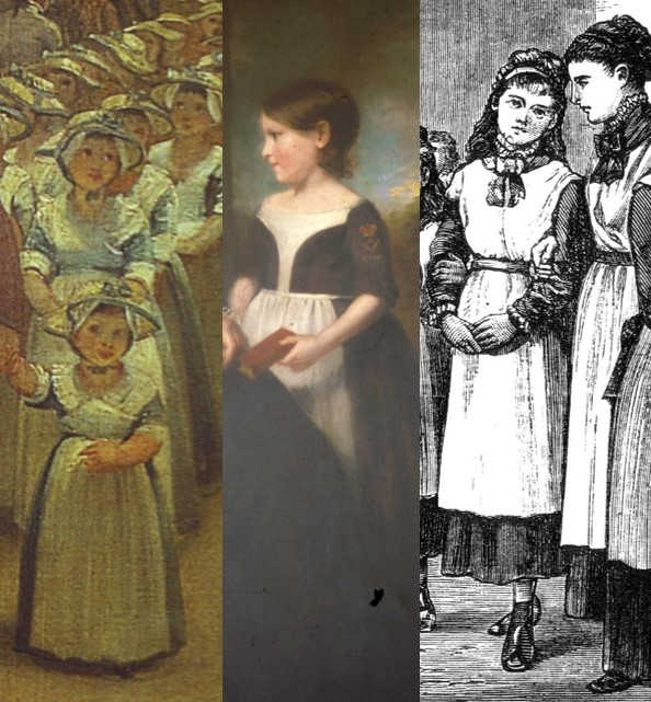 These three images are captured from contemporaneous portrayals of the school