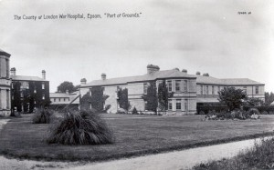 Epsom Hospital from http://www.loyalregiment.com/29564-pte-d-r-berry-l-n-lan-r/