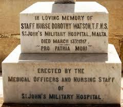 Dorothy Watson's grave in Pieta Cemetery