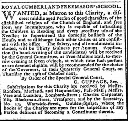 Matron ad 1791