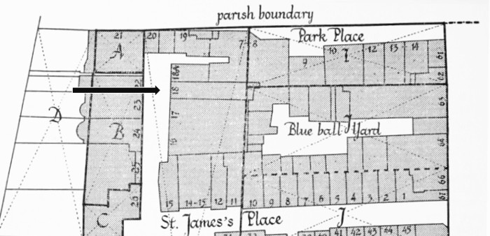 map of St James Place