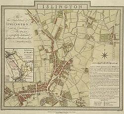 1805 map of Islington