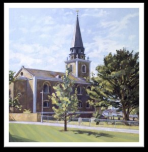 Oil painting of St Mary, Battersea