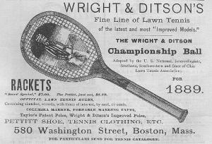 An advertisement for Wright and Ditson