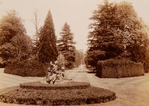 Blenheim Palace gardens 1896