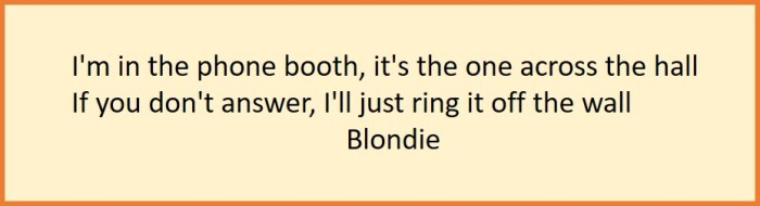 Blondie song