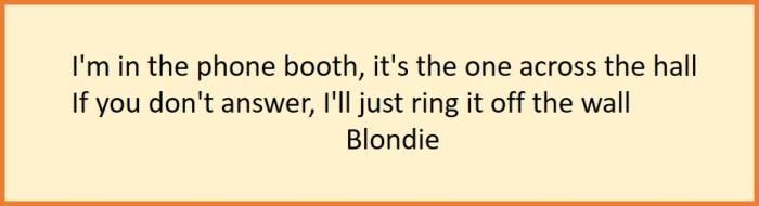 Blondie song