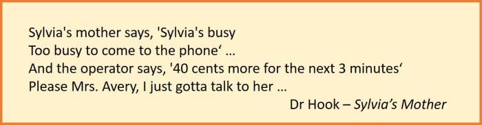 Dr Hook lyrics