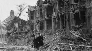 houses bombed